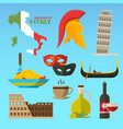 historical symbols rome italy vector image