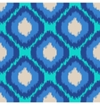 ikat geometric seamless pattern turquoise blue vector image vector image
