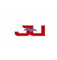 JU Logo Graphic Branding Letter Element vector image vector image