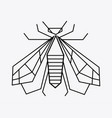 logo of the bee black and white bee icon vector image vector image