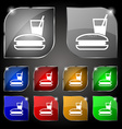 lunch box icon sign Set of ten colorful buttons vector image vector image