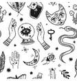 magic elements hand drawn vector image