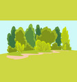nature lanscape with tree family hiking vector image