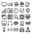 Network Technology Icons 3 vector image vector image