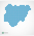 nigeria map and flag icon vector image
