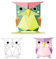 owl low polygon vector image