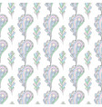 paisley and oak leaves seamless pattern vector image vector image