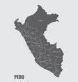 peru regions map vector image vector image