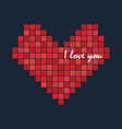 pixel love heart icon logo design vector image