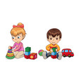 playful children with toys vector image vector image