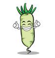 proud white radish cartoon character vector image vector image