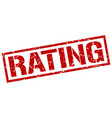 rating stamp vector image vector image
