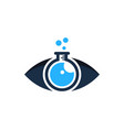 research eye logo icon design vector image