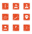 service gang icons set grunge style vector image vector image