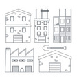 set of construction icons vector image