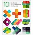 Set of infographic modern templates - stripes vector image