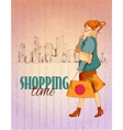 Shopping city poster vector image vector image