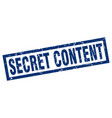 square grunge blue secret content stamp vector image vector image