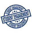 student engagement blue round grunge stamp vector image vector image