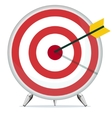 Target with an Arrow in the Center vector image vector image