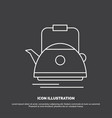 tea kettle teapot camping pot icon line symbol vector image