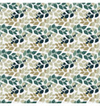 twigs with leaves seamless pattern turkuoise and vector image vector image