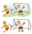 two little boys playing vector image