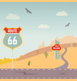 usa route 66 and landscape vector image vector image