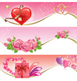 Valentines Day banners vector image vector image