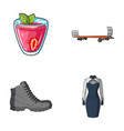 vegetarianism shoes and other web icon in cartoon vector image vector image