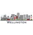 wellington new zealand city skyline with gray vector image vector image