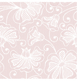 White seamless flower pattern on pink background vector image vector image