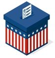 box for a vote presidential elections in the vector image