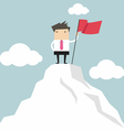 Businessman go to the top of mountain vector image