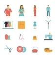 Fashion designer tools icon set vector image