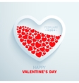 White paper heart filled with red hearts vector image
