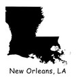 1316 new orleans la on louisiana state map vector image vector image