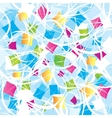 Abstract background with geometrical objects vector image
