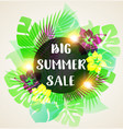 abstract banner for seasonal summer sale vector image vector image