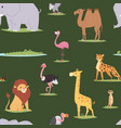 africa animals outdoor graphic travel seamless vector image vector image