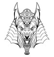 ancient egyptian god anubis head vector image vector image
