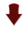 arrow down symbol vector image vector image