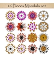 Beautiful ornamental rosettes set For ethnic or vector image vector image