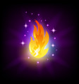 bright fire flames icon for slot machine vector image vector image