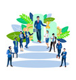 business leader with a cup in his hands the vector image vector image