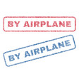 by airplane textile stamps vector image vector image