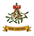 Christmas holy branch icon vector image vector image