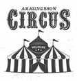 circus tent or marquee black vector image