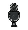 colorful crayon silhouette of desk microphone with vector image vector image