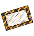 construction information label icon vector image vector image